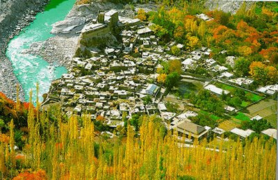 Karimabad and the Hunza River from Above