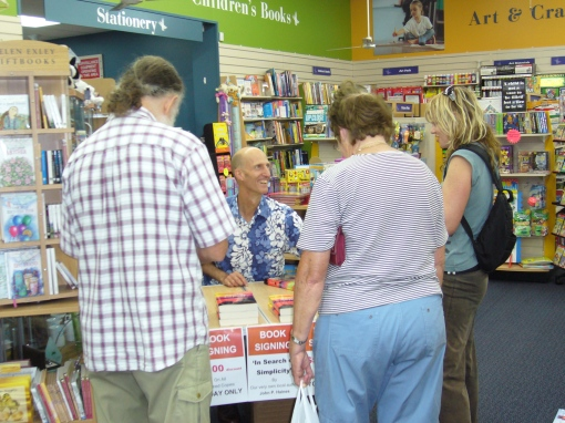A Book Sgning at Paper Plus in Kaitaia in March, 2009