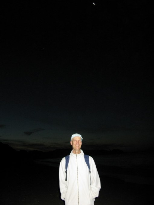 One of my favourite times to walk on the beach - under the stars