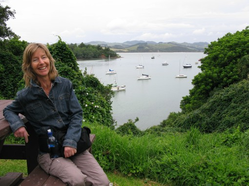 Lucia overlooking Mangonui Harbour