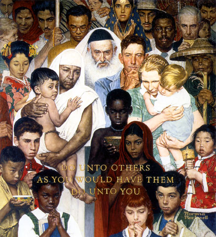 "Norman Rockwell's Classic ""The Golden Rule"""