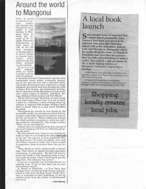 New Zealand Articles March 2009