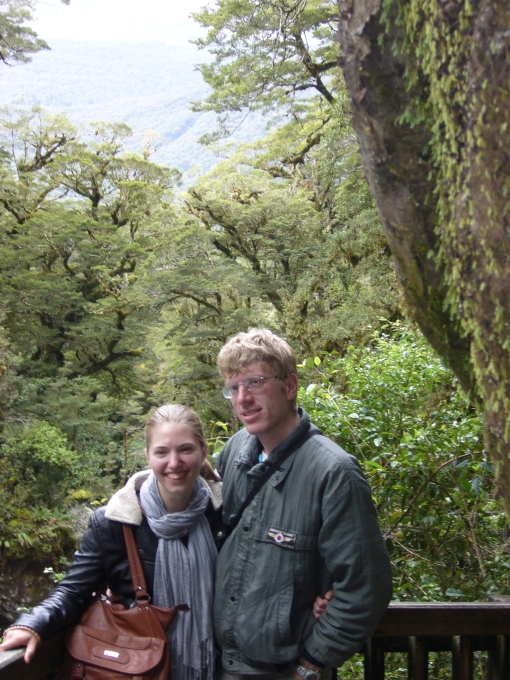 Amira and Toby. The Hollyford Valley