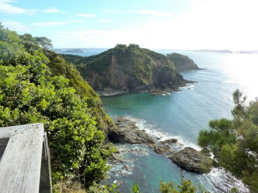 The spectacular view from the lookout on Roberton Island, an excursion we made on the return boat trip.