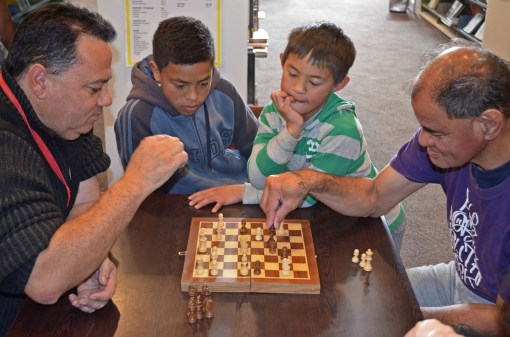 Chess in the library. Bringing all ages together.