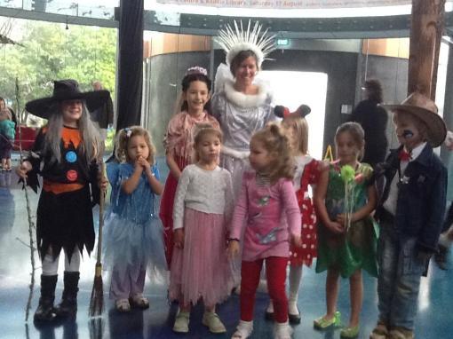 Branch Librarian Helen Yuretich as the Snow Queen - Storylines 2013