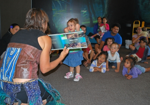 Bilingual story time with our wonderful volunteer Waikarere
