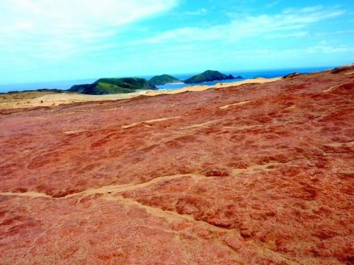 The climb up from Te Werahi