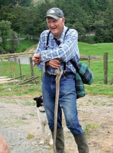 John Garton and his faithful farm dog.